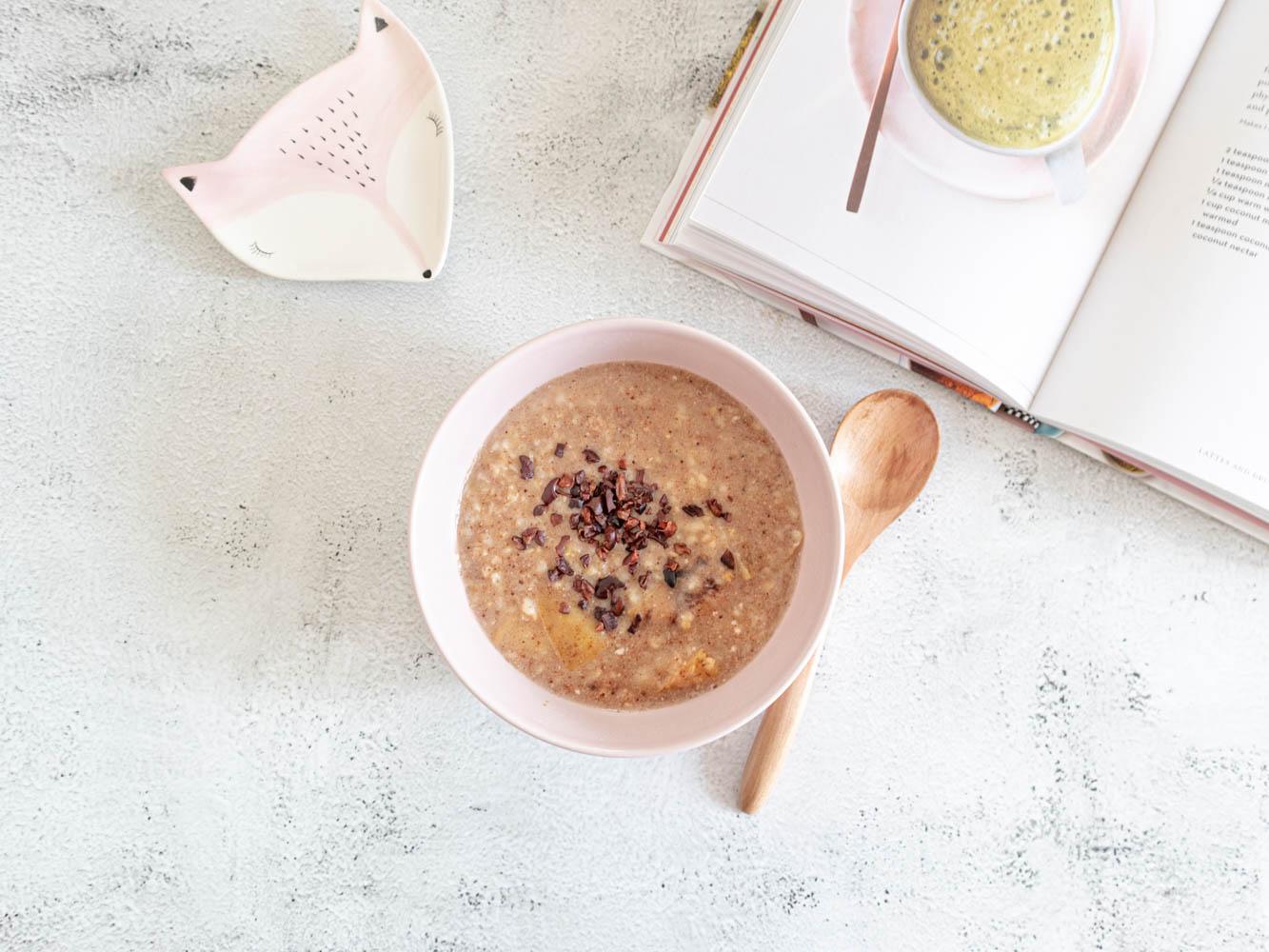 crema di riso e miglio - colazione macrobiotica