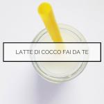 Latte di cocco fai da te - dieta macrobiotica