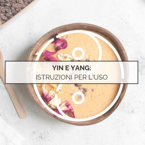 yin e yang istruzioni per l'uso