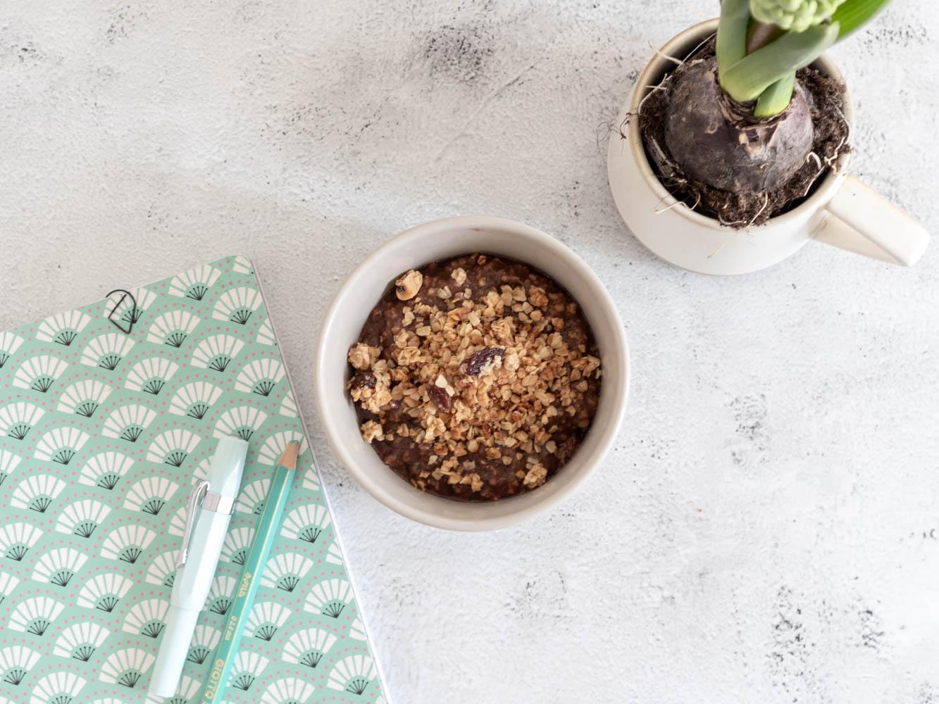 Ricette – Porridge con mandorle, cacao e cannella