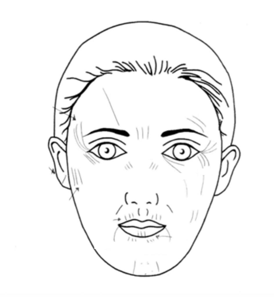 la mappa del viso